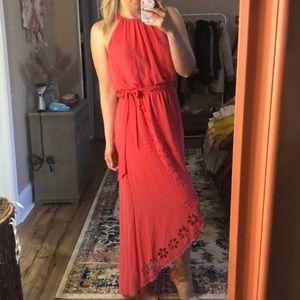 Jessica Simpson coral high neck dress